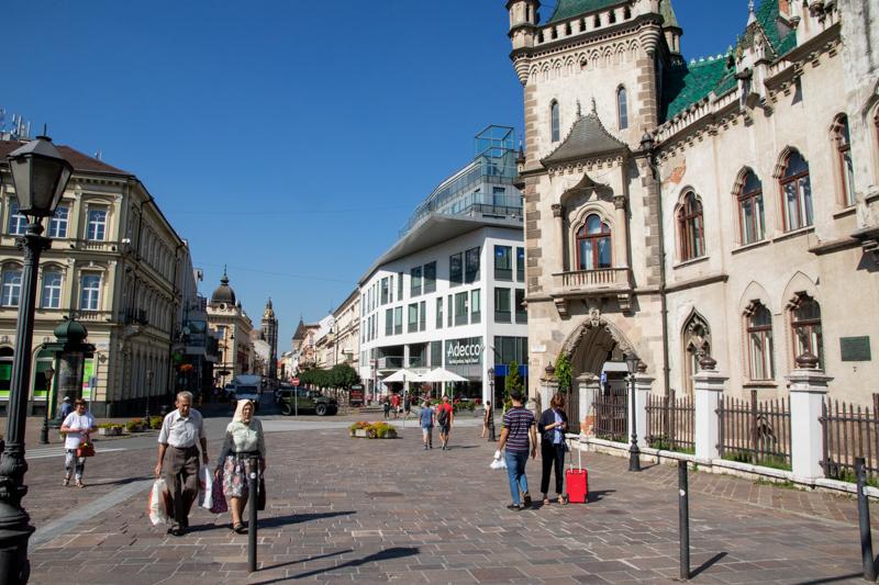 IJsjes eten in gezellig Košice