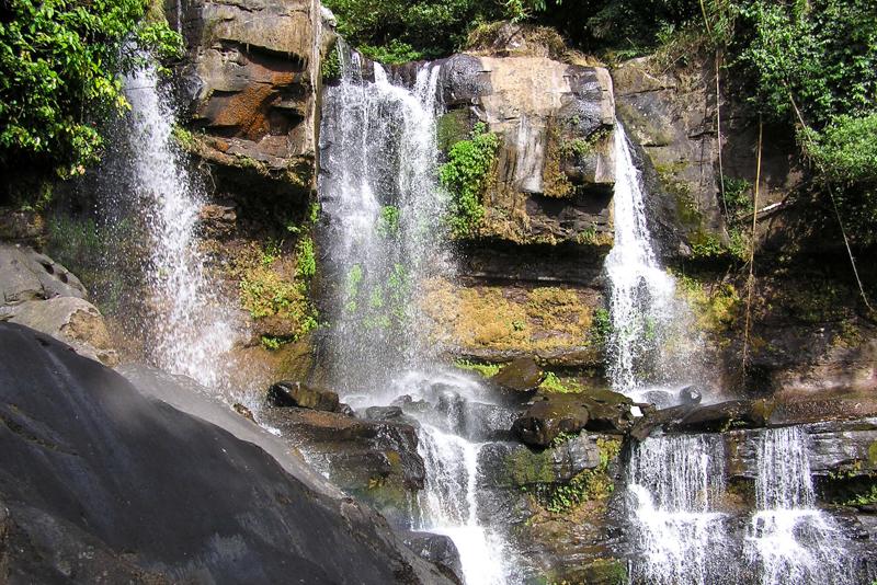 Watervallen op het Bolaven Plateau