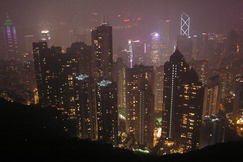 De skyline van Hong Kong